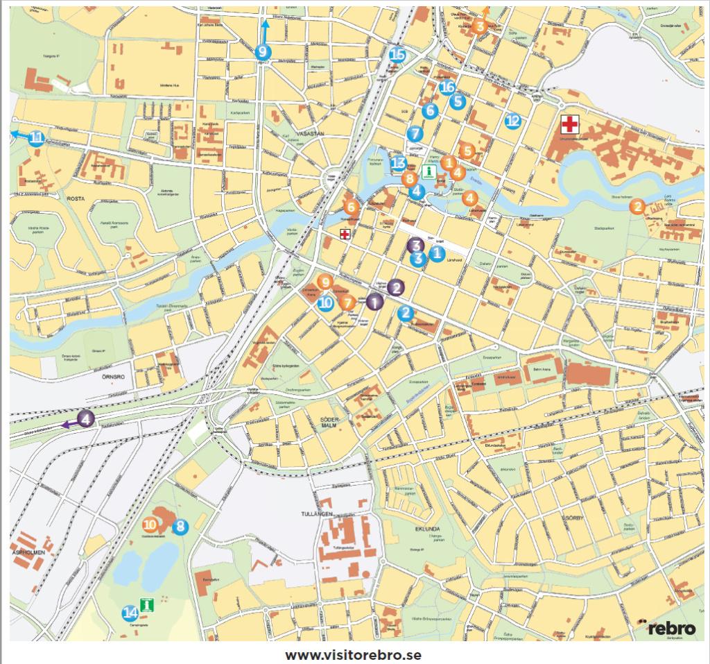Citykarta Örebro